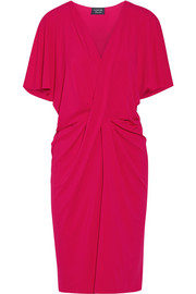 Twist-front stretch-jersey dress