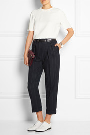 Lanvin Cropped pinstriped wool tapered pants