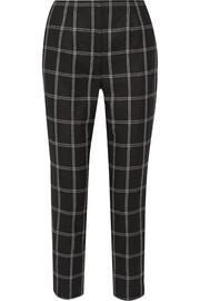 Wool-blend flannel tapered pants