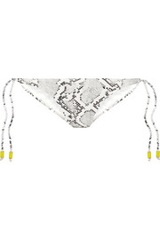 Serpent snake-print bikini briefs