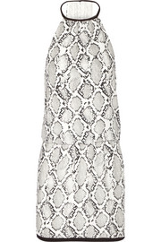 Serpent snake-print voile dress