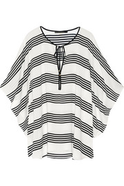 Striped voile kaftan