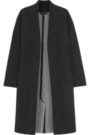 Wool-felt and cashmere-blend coat