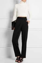 Tricia cropped ribbed-knit sweater