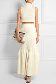 Ribbed knitted maxi skirt