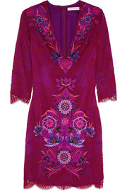 Matthew Williamson Embroidered lace dress