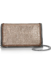 Stella McCartney The Falabella metallic faux leather shoulder bag