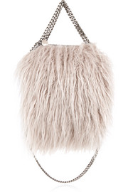 Falabella mini faux fur tote