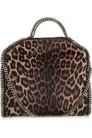 Falabella leopard-print faux calf hair shoulder bag