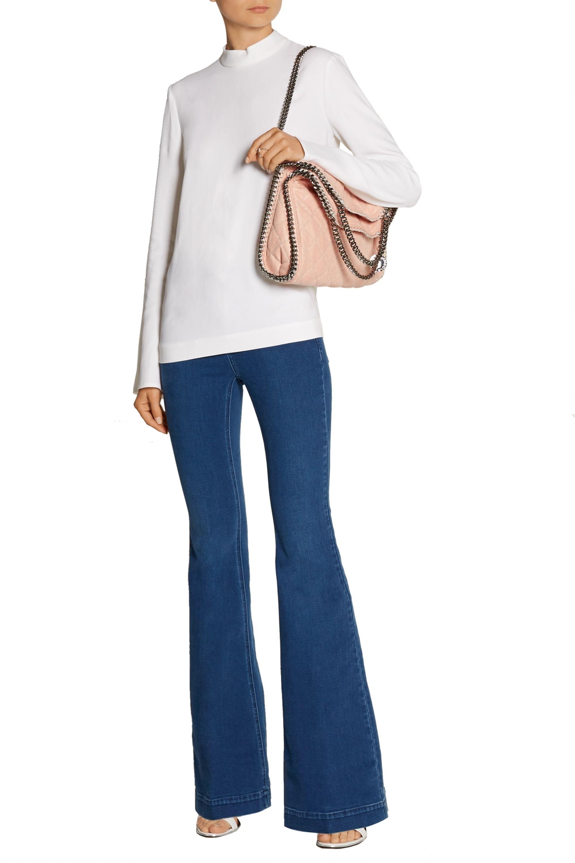 Stella McCartney The Falabella medium faux brushed-leather shoulder bag