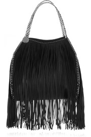 Stella McCartney The Falabella fringed faux brushed-leather shoulder bag