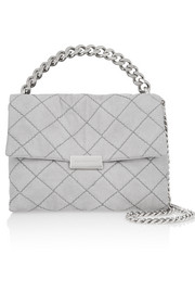 Stella McCartney Soft Beckett medium quilted faux suede shoulder bag