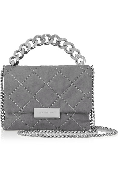 be2c83181b0d Stella McCartney. Soft Beckett small quilted faux suede shoulder bag