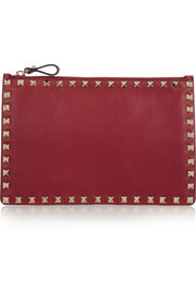 The Rockstud leather pouch