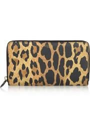 Givenchy Continental wallet in leopard-print coated canvas