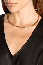 Convertible gold-plated cubic zirconia choker