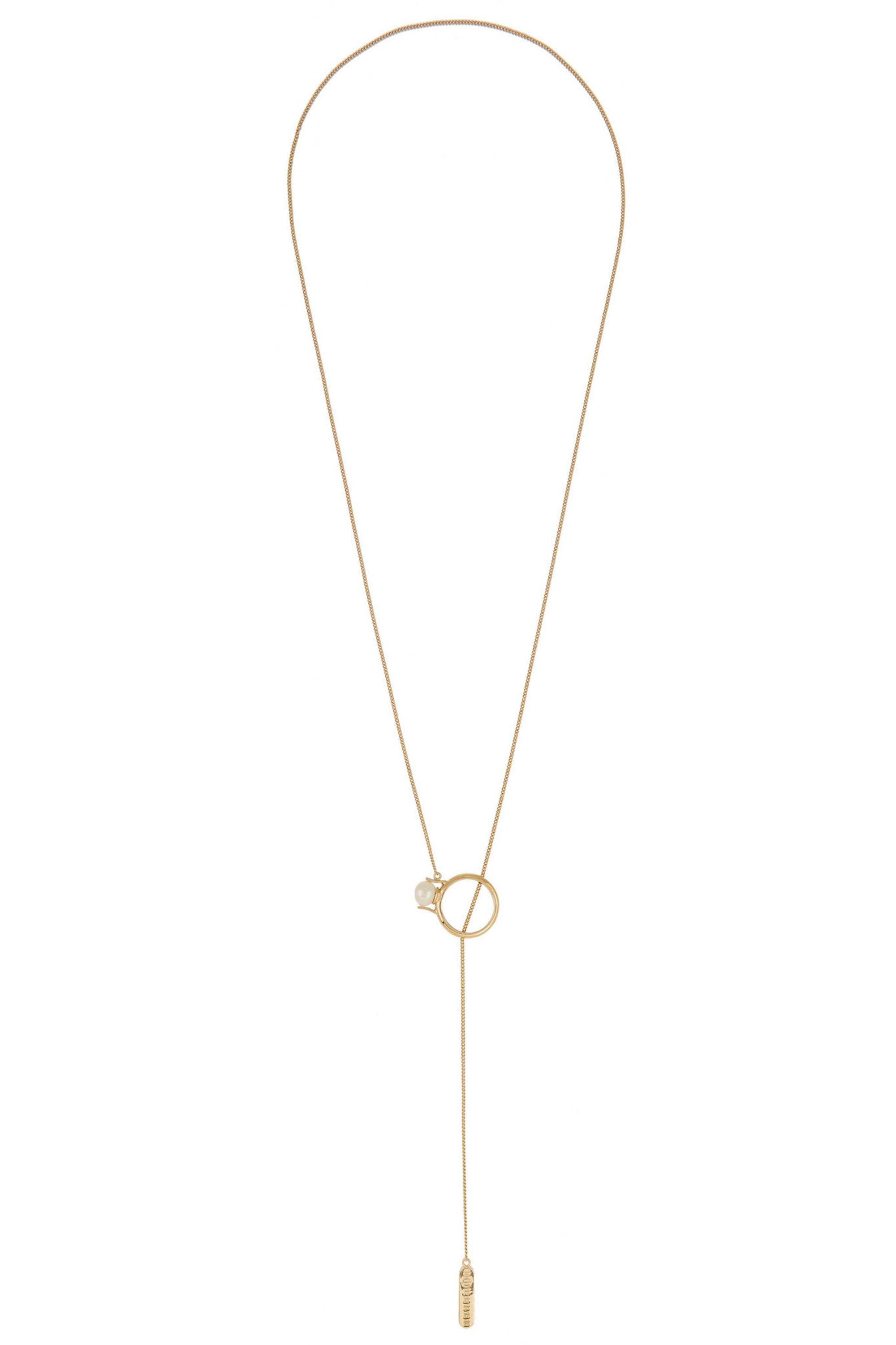 Maison Margiela Gold-plated faux pearl necklace