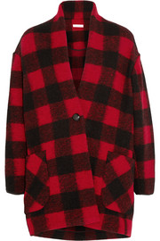 Étoile Isabel Marant Gabrie plaid wool-blend coat