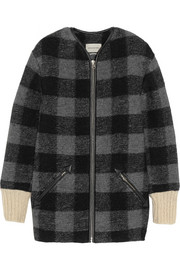 Étoile Isabel Marant Gelicia checked wool-blend coat