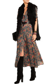 Shania floral-print crepe de chine wrap dress