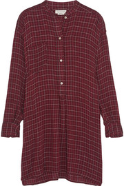 Peneloppe checked flannel mini shirt dress