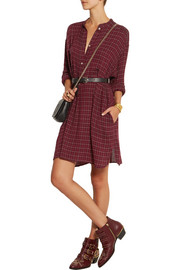 Étoile Isabel Marant Peneloppe checked flannel mini shirt dress
