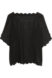 Axel embroidered georgette top