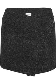 Dailon wool-blend bouclé mini wrap skirt