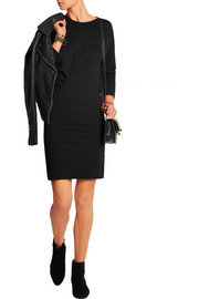 Wilder ruched slub jersey mini dress