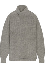 Laney ribbed wool and alpaca-blend turtleneck sweater