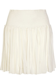 Arielle pleated georgette mini skirt