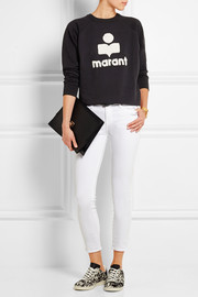 Étoile Isabel Marant Cody terry-embroidered cotton-blend jersey sweatshirt