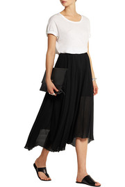 Étoile Isabel Marant Amery pleated chiffon wrap midi skirt