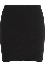 Wonki ruched jersey mini skirt