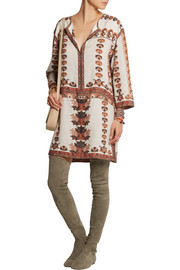 Sandrine printed modal mini dress