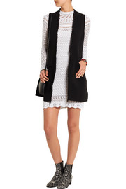 Davy crocheted cotton mini dress