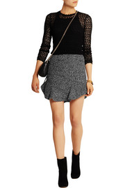 Drye wool-blend boucl� mini skirt
