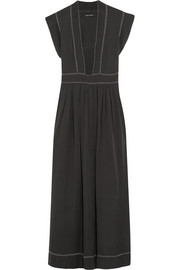 Mick embellished washed-silk maxi dress