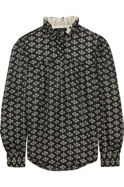 Isabel Marant Uster printed silk-twill blouse