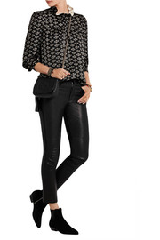 Uster printed silk-twill blouse
