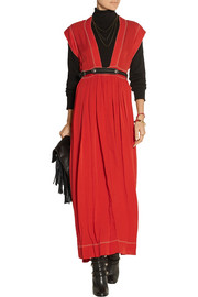 Mick bead-embellished woven silk maxi dress