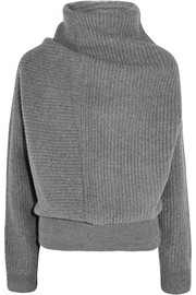 Jacy oversized ribbed wool turtleneck sweater