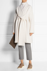 Hava oversized boiled wool coat
