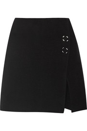 Paynton boiled wool-blend mini skirt