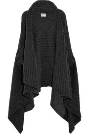 Alan ribbed-knit wrap cardigan