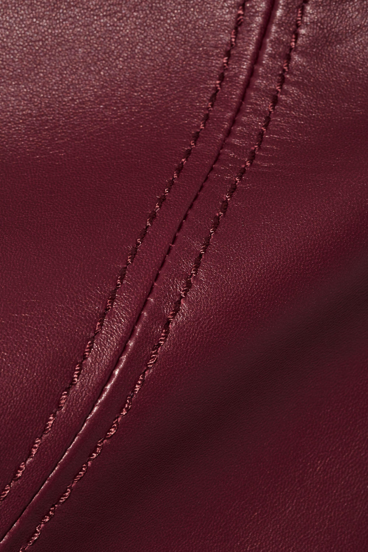 Acne Studios Leala leather mini skirt