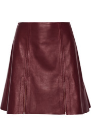 Acne Studios Leala leather mini skirt