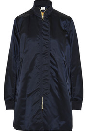 Aude padded satin-shell bomber jacket