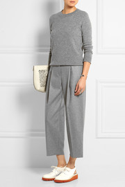 Murol Raw wool-blend felt wide-leg pants