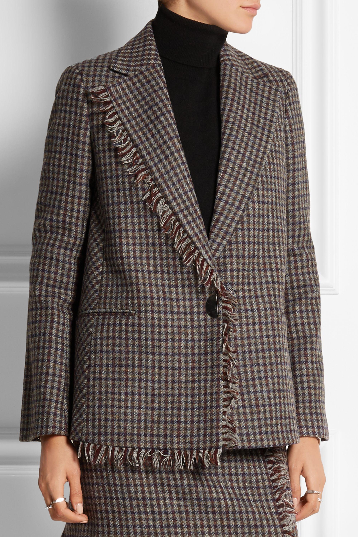 Acne Studios Blazer en tweed de laine à carreaux